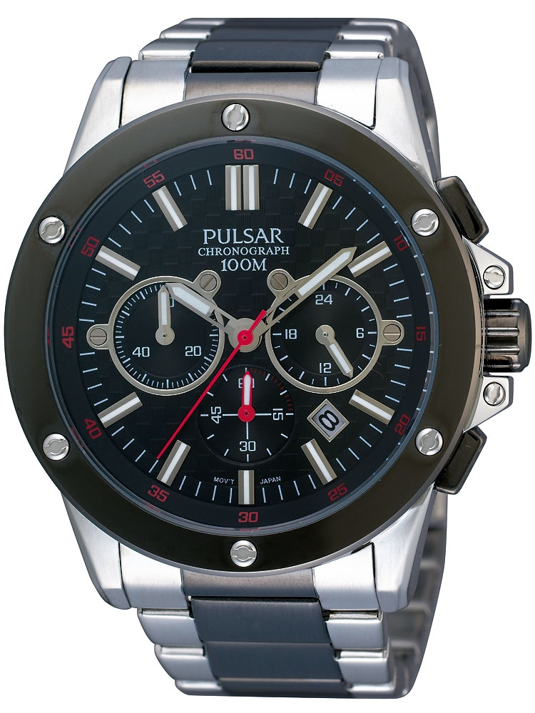 Relojes  Pulsar PT3127X1 Herrenuhr Chronograph silber schwarz 10 ATM 385e6b7fccd5