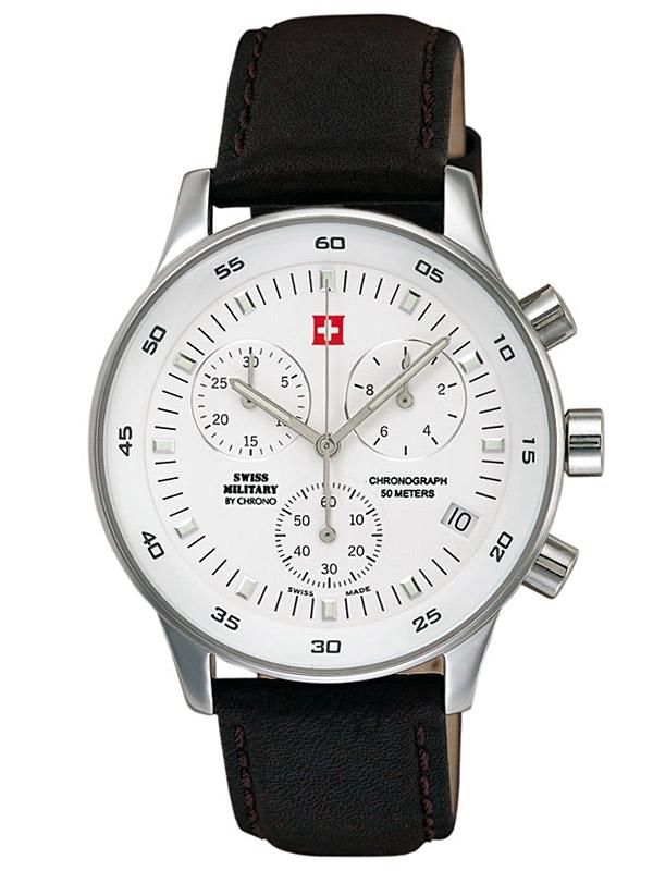 ceas barbatesc swiss military sm30052.04 cronograf 5 atm, 41 mm