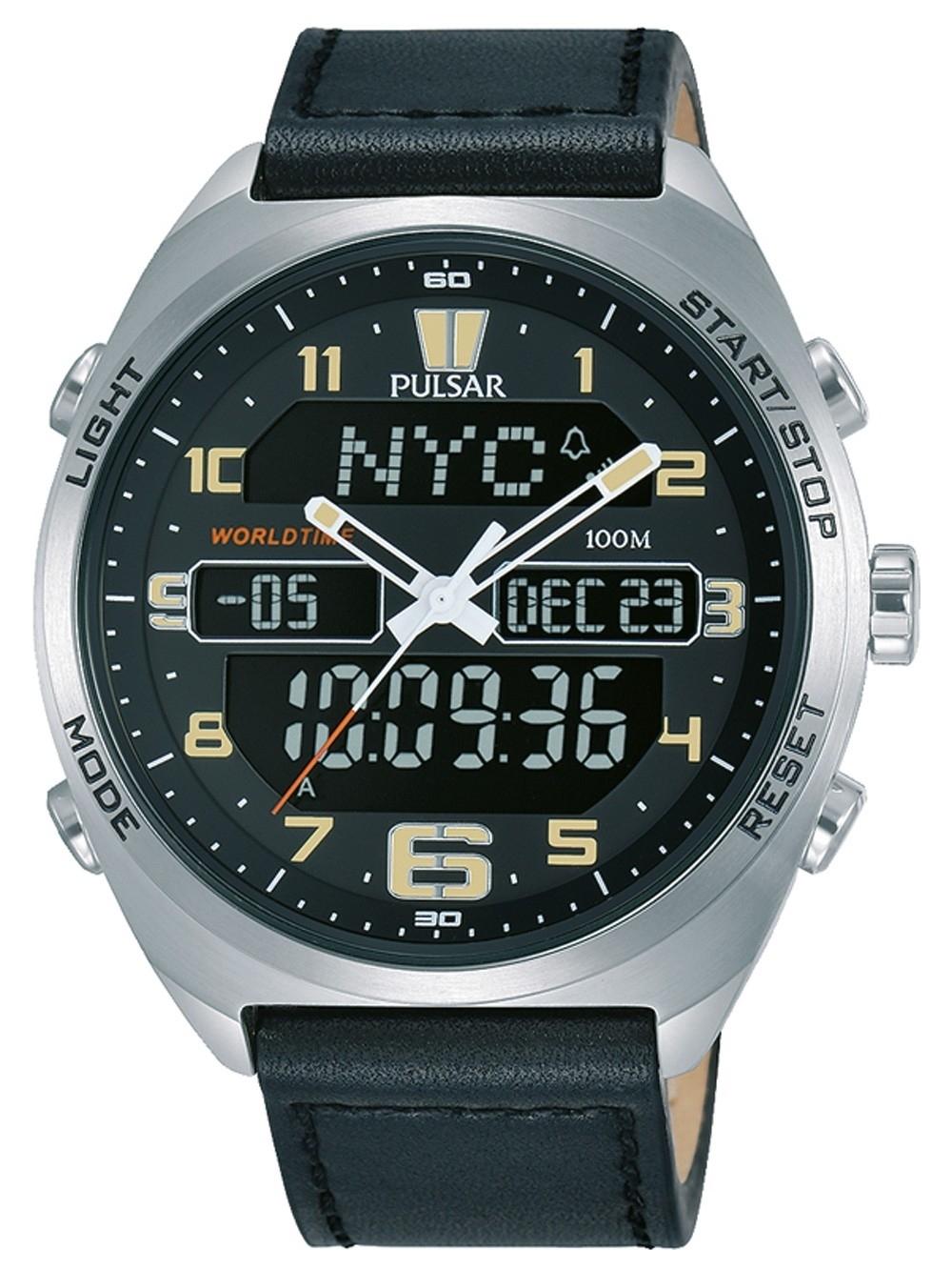 ceas barbatesc pulsar pz4041x1 chrono. 45mm 10atm
