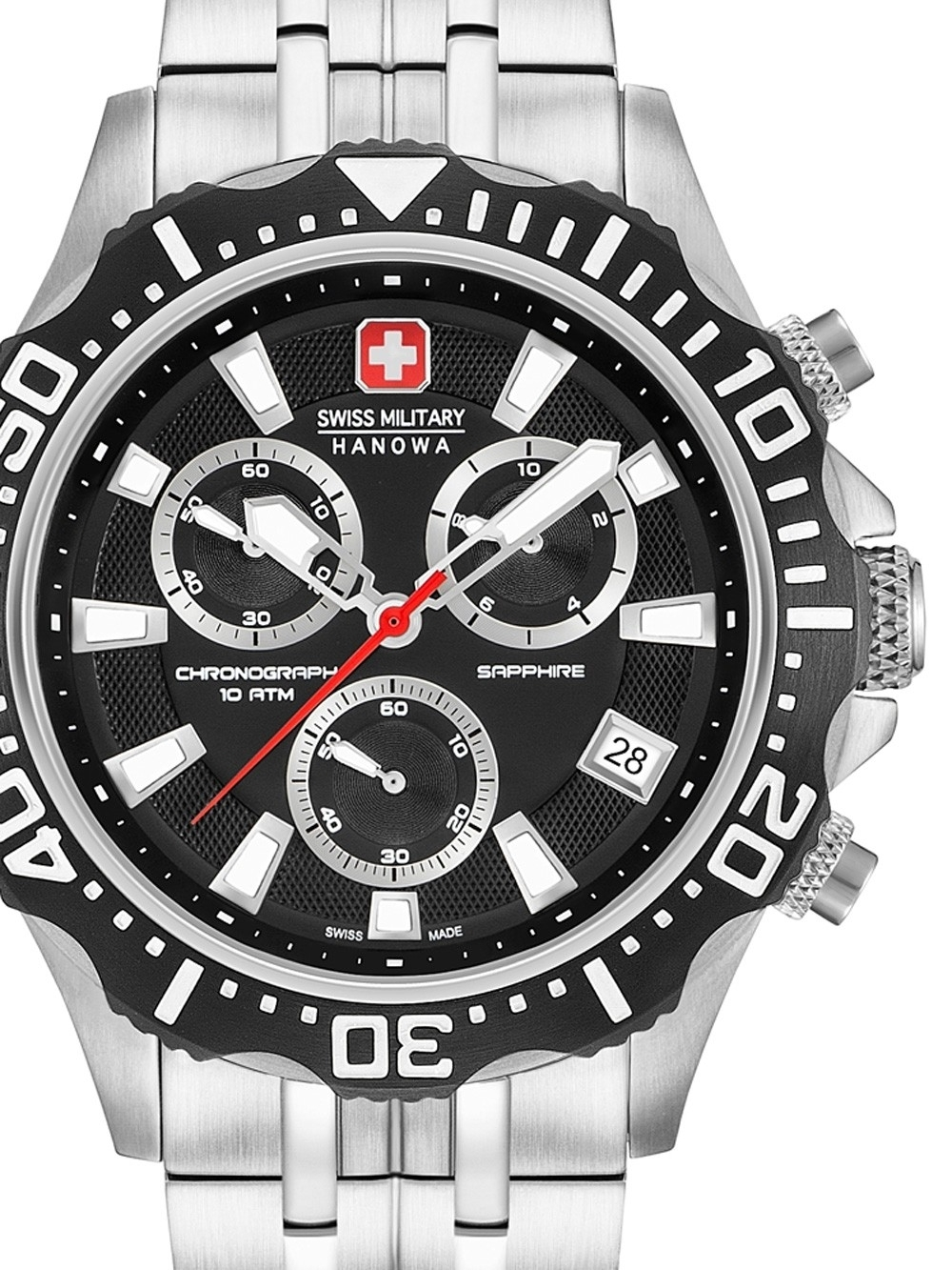 ceas barbatesc swiss military hanowa 06-5305.04.007 patrol chrono 45mm 10atm