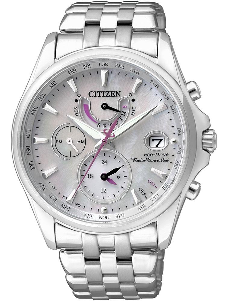 ceas de dama citizen eco-drive fc0010-55d radio controlat saphir, 10 atm, 39 mm