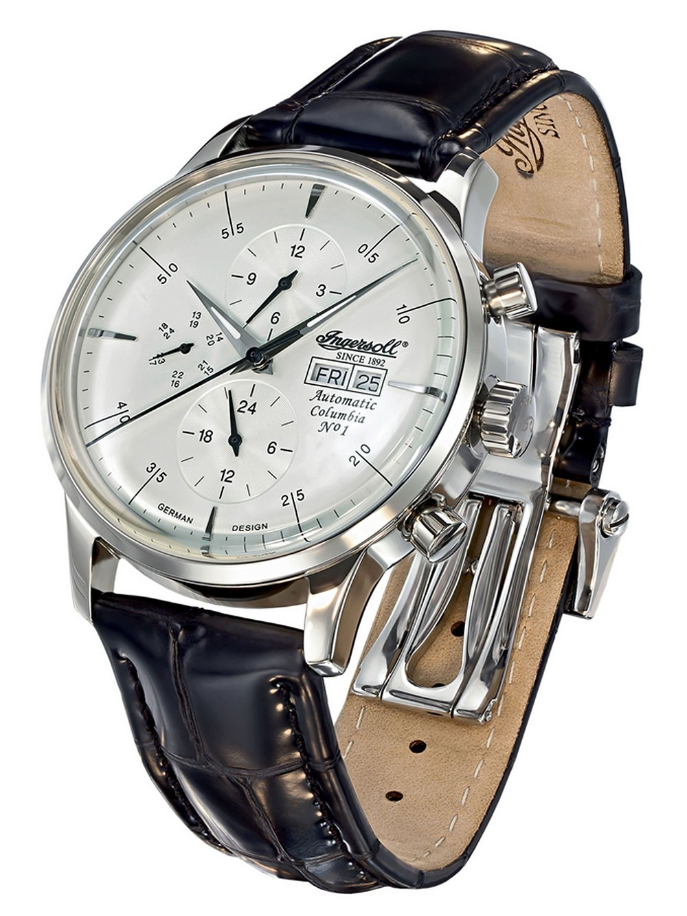 ceas barbatesc ingersoll columbia no.1 in2819ch automat 44 mm 3atm