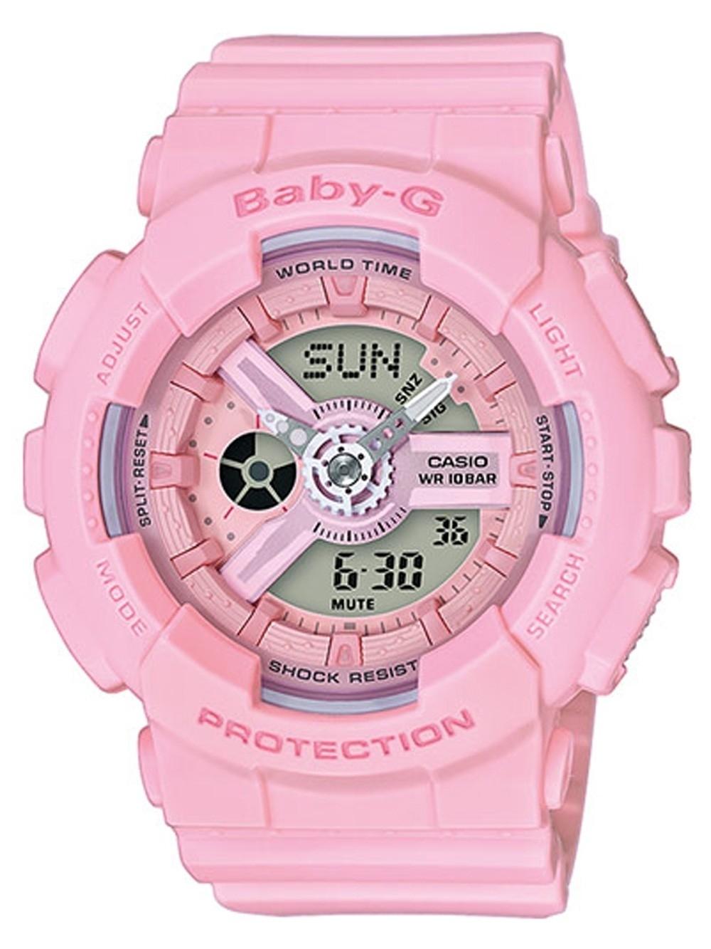 ceas de dama casio ba-110-4a1er baby-g 43mm 20atm