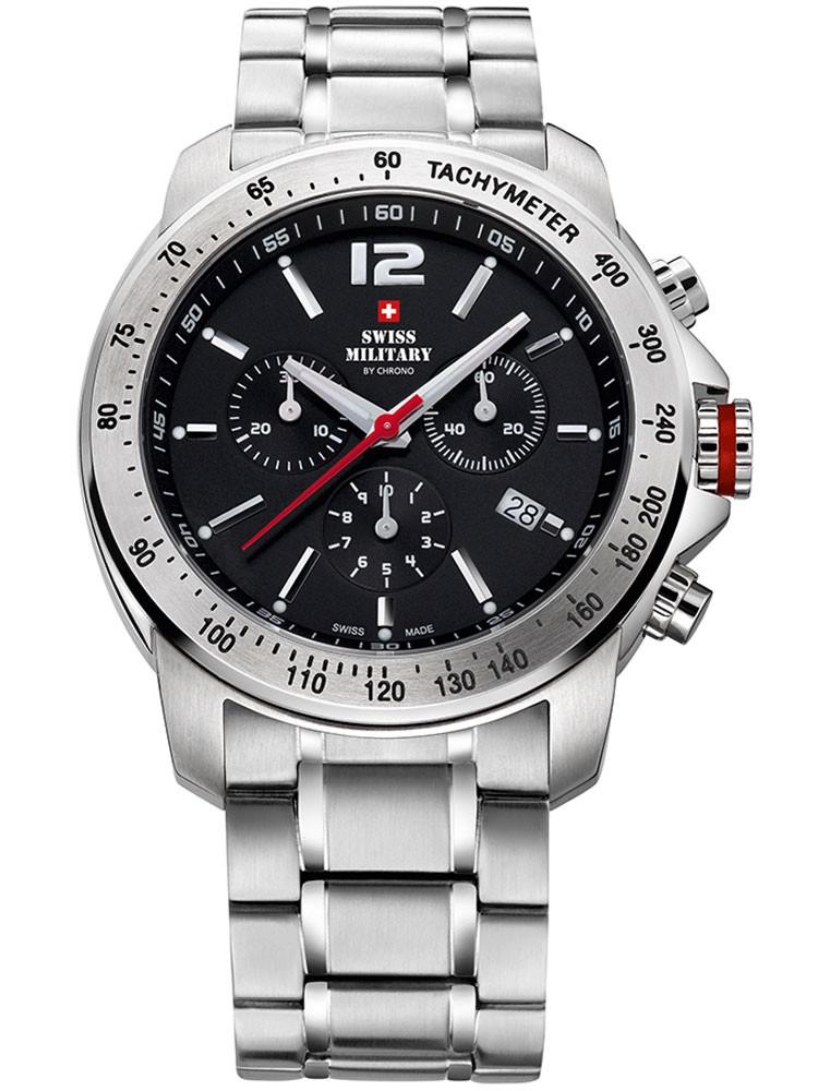 ceas barbatesc swiss military sm34033.02 cronograf 10 atm, 42 mm