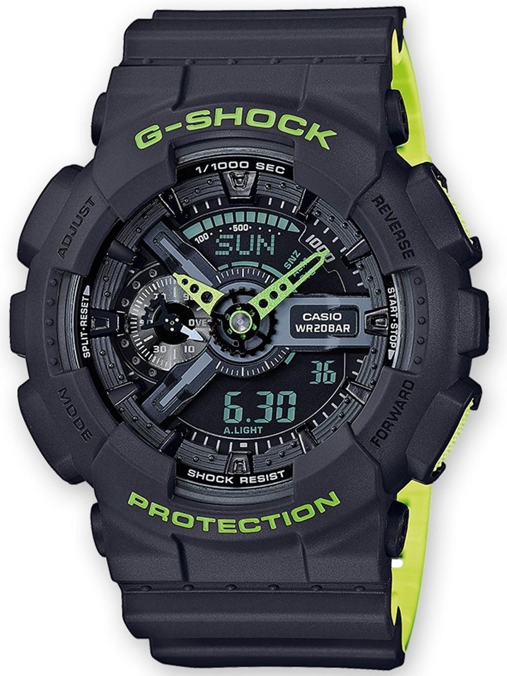 ceas barbatesc casio ga-110ln-8aer g-shock 51mm 20atm
