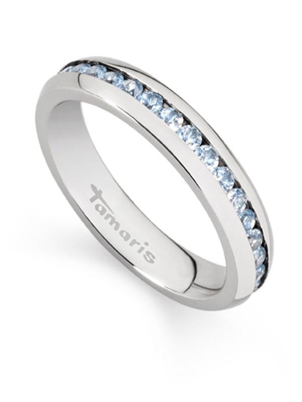 Tamaris Daisy Steckring A02310233 Gr. 54 M. Zirconia Sky-albastru
