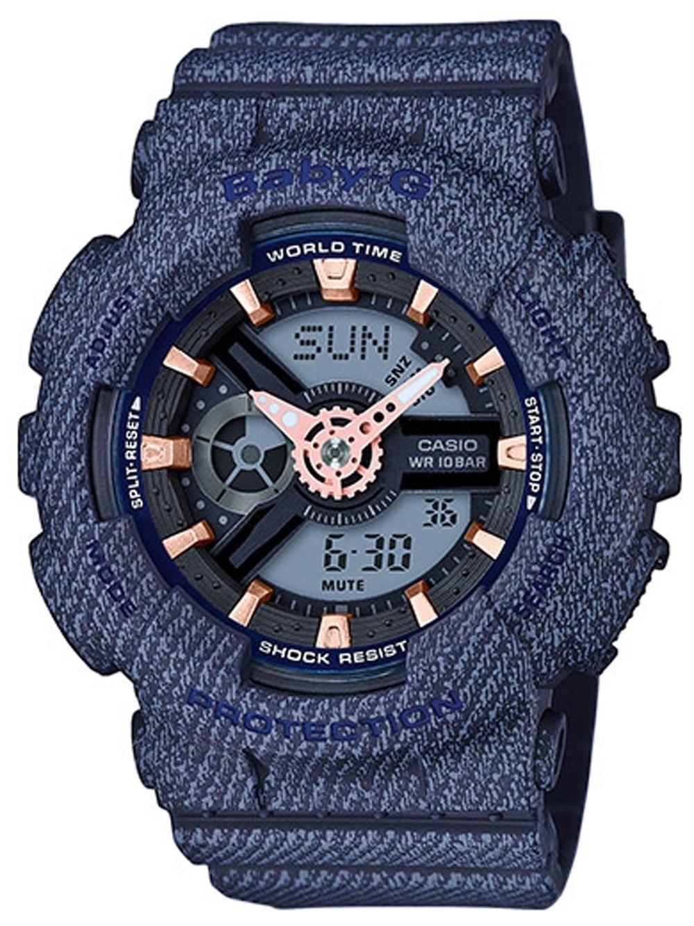 ceas de dama casio ba-110de-2a1er baby-g 43mm 20atm