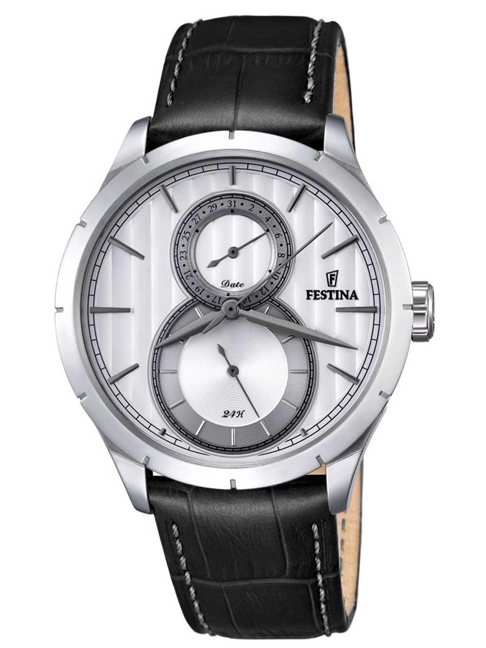 ceas barbatesc festina f16892/1 functii multiple 45mm 5atm