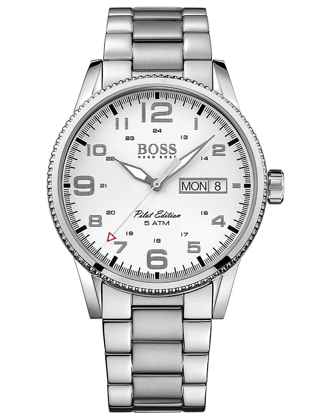 ceas barbatesc hugo boss 1513328 pilot 44mm 5atm