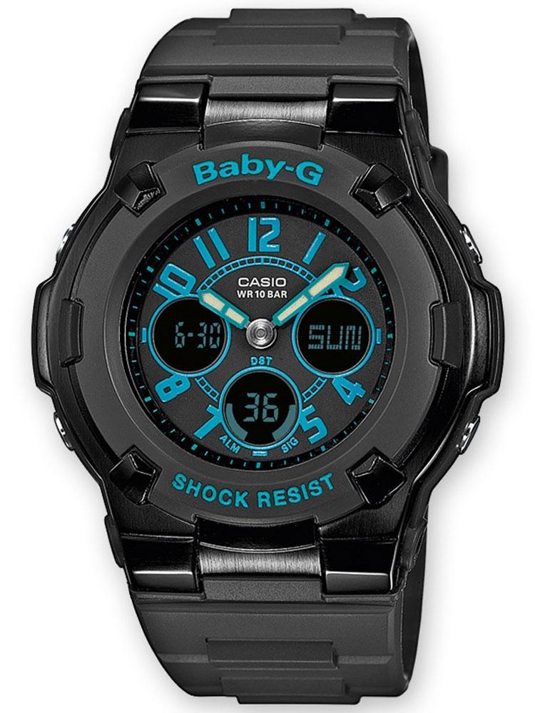ceas de dama casio bga-117-1b2er baby-g cronograf 10 atm 39 mm