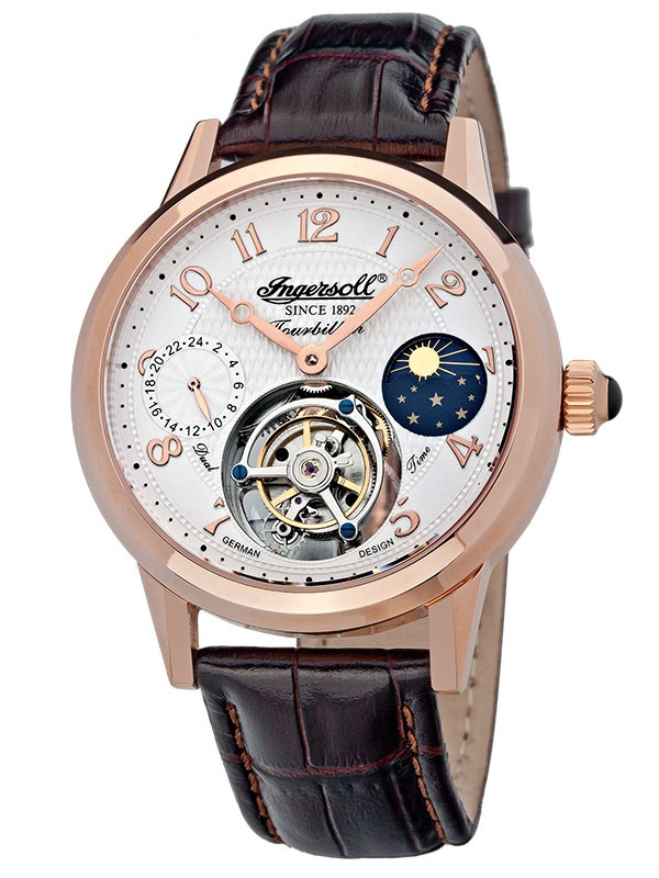 ceas barbatesc ingersoll pierce in5305rg tourbillon