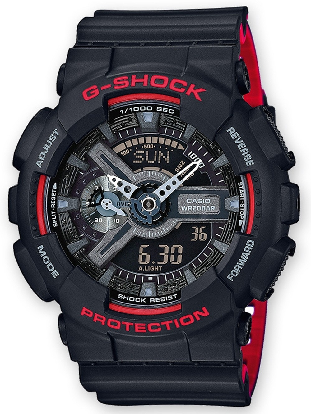 ceas barbatesc casio ga-110hr-1aer g-shock 51mm 20atm