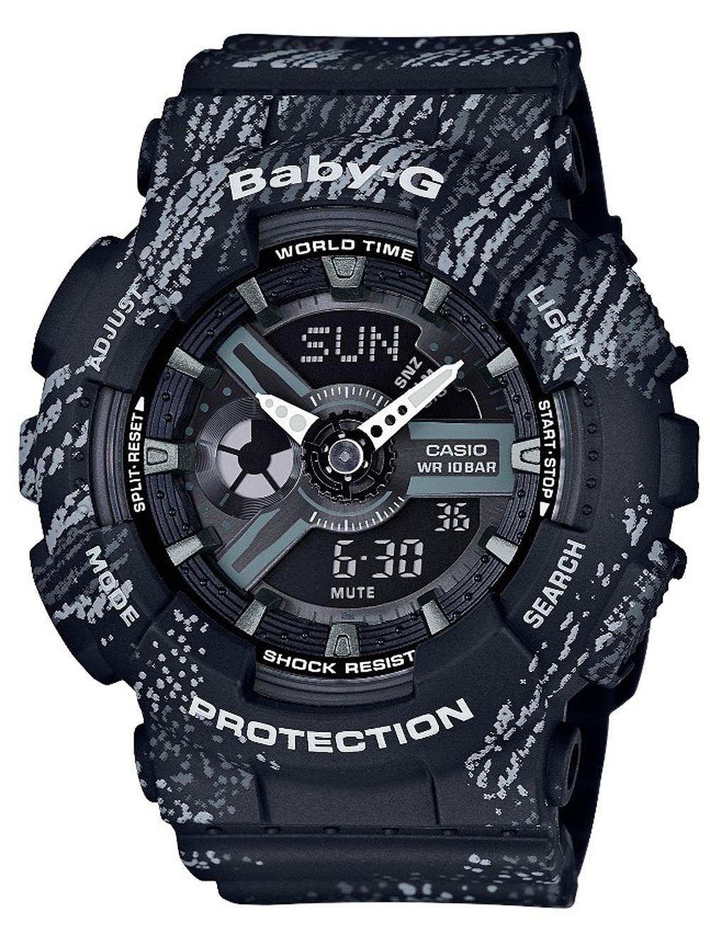 ceas de dama casio ba-110tx-1aer baby-g 43mm 20atm
