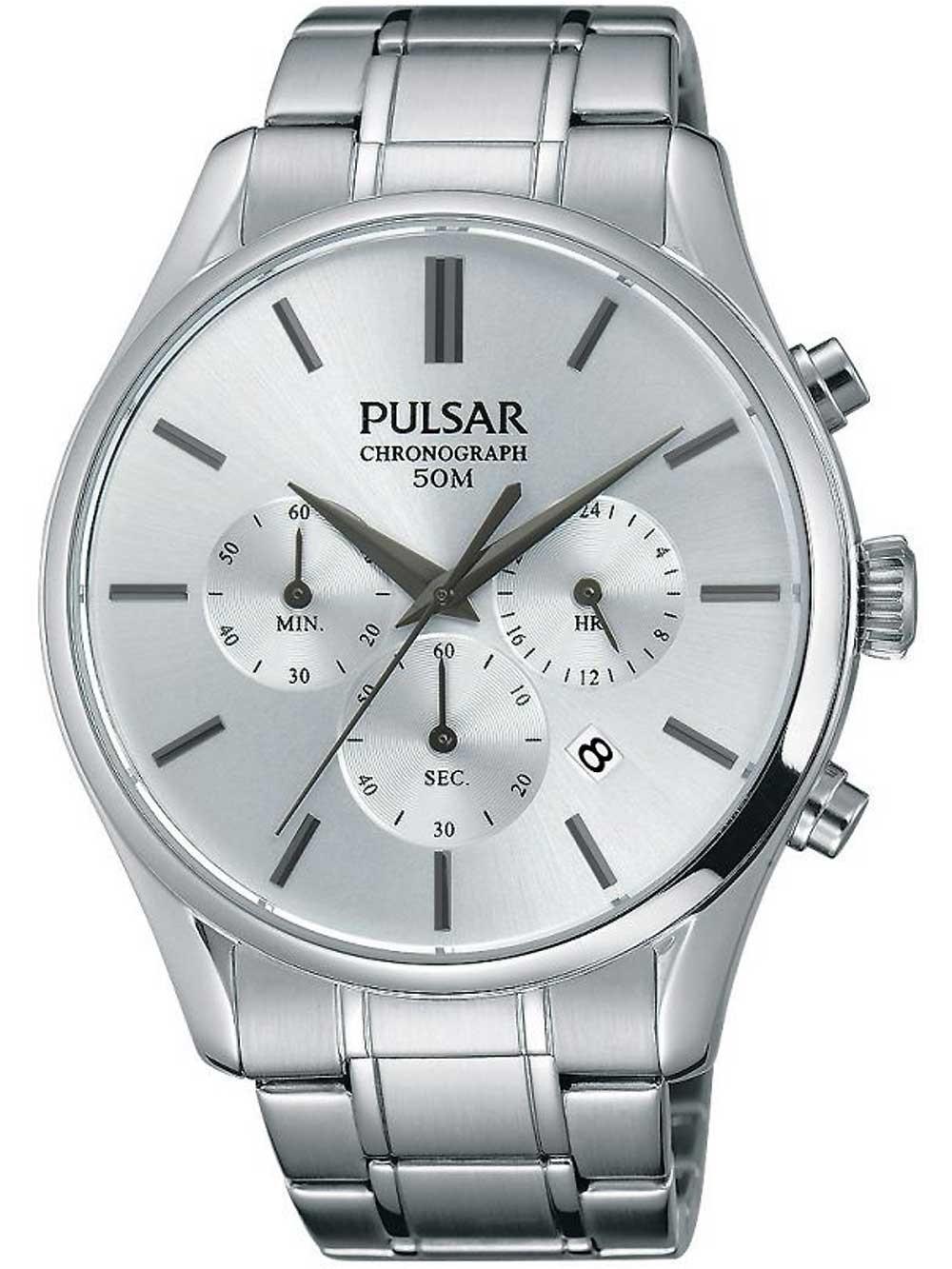 ceas barbatesc pulsar pt3775x1 43mm 5atm
