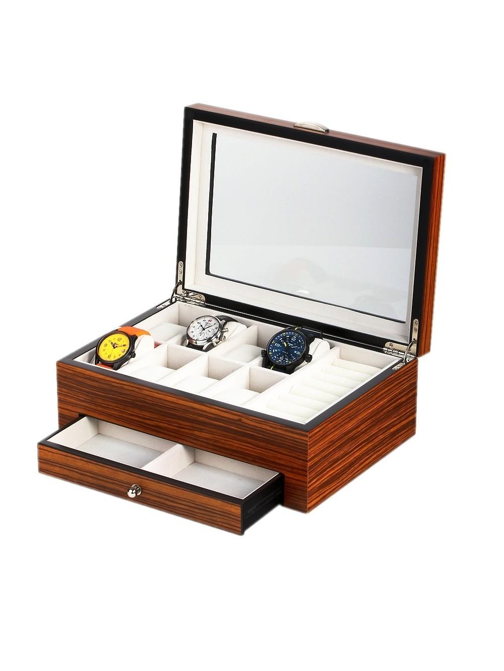 cutie ceasuri + bijuterii rothenschild rs-2271-8z pentru 8 ceasuri
