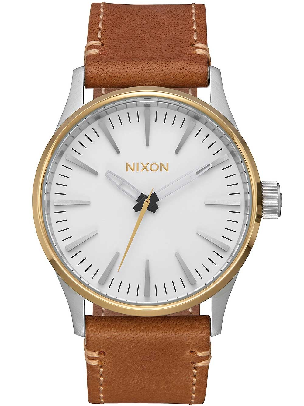 ceas barbatesc nixon a377-2548 sentry tan 38mm 10atm