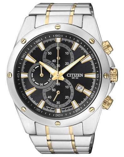 ceas barbatesc citizen an3534-51e sport eco-drive cronograf 44 mm