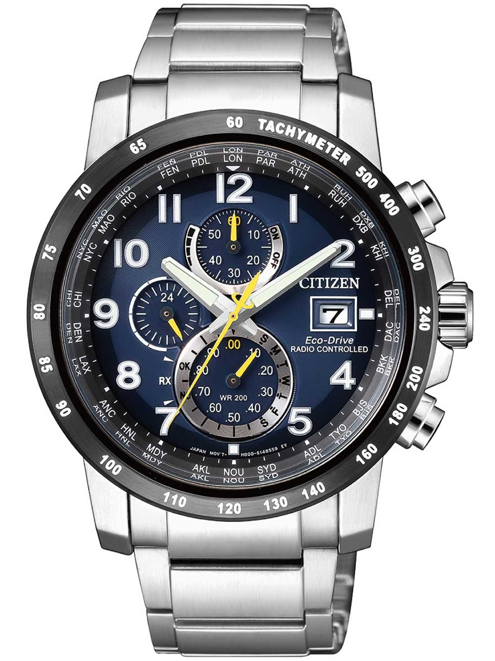 ceas barbatesc citizen at8124-91l eco-drive sport radio controlat-cronograf 43mm 20atm