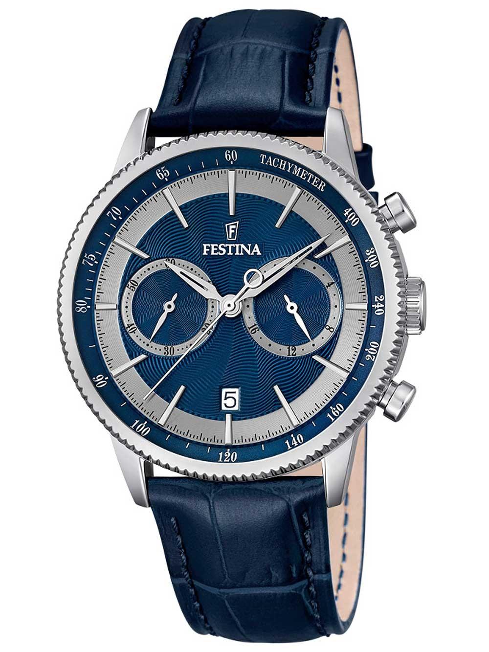 ceas barbatesc festina f16893/6 cronograf 41mm 5atm