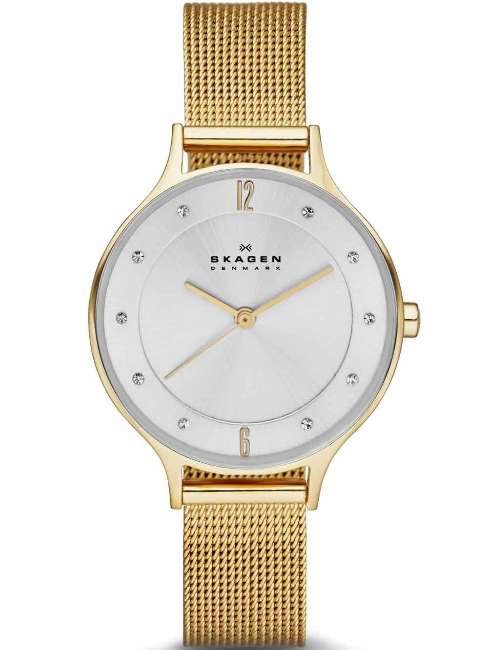 watches chrono12 skagen skw2150 anita damenuhr gold 30mm. Black Bedroom Furniture Sets. Home Design Ideas