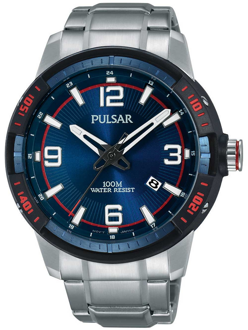 ceas barbatesc pulsar ps9477x1 45mm 10atm