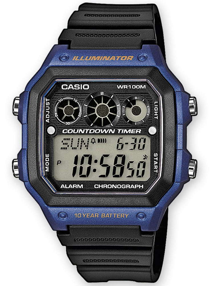 ceas barbatesc casio ae-1300wh-2avef collection cronograf 10 atm 42 mm