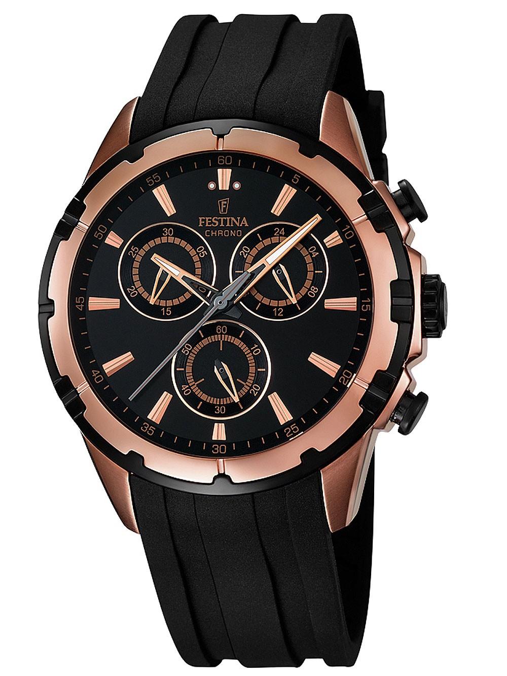 watches chrono12 festina f16840 1 chronograph 44mm 10atm. Black Bedroom Furniture Sets. Home Design Ideas