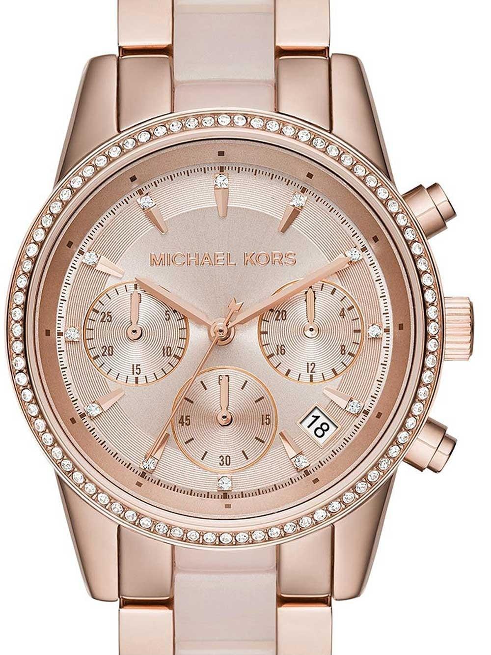 ceas de dama michael kors mk6307 ritz chrono 37mm 5atm