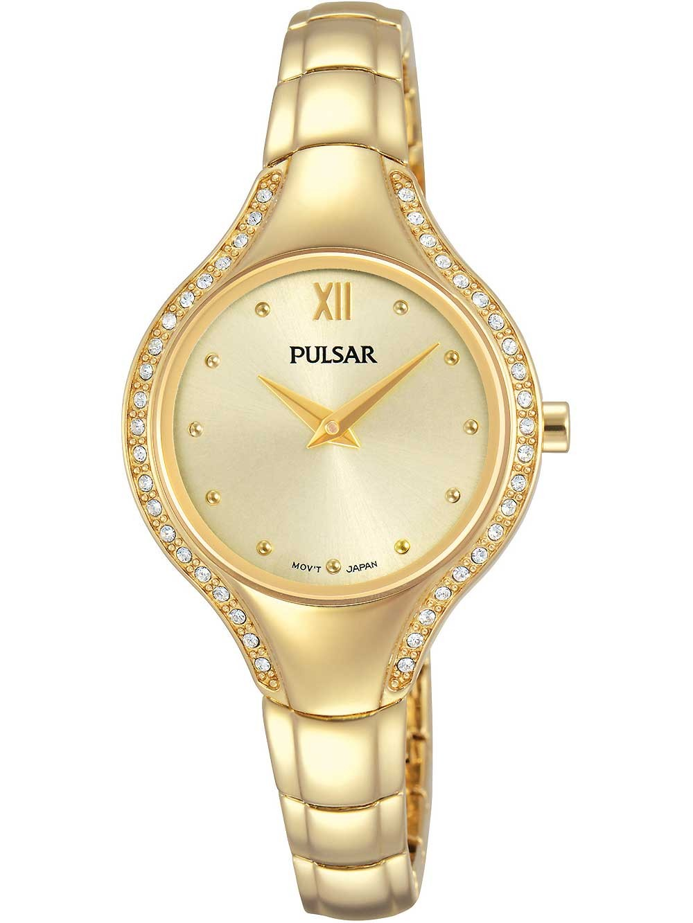 ceas de dama pulsar pm2232x1 swarovski 28mm 3atm