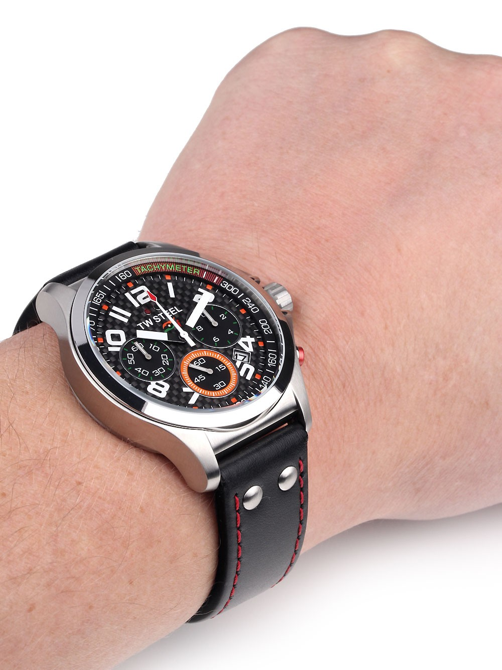 ceas barbatesc tw-steel tw432 pilot sahara force india cronograf 45mm 5atm
