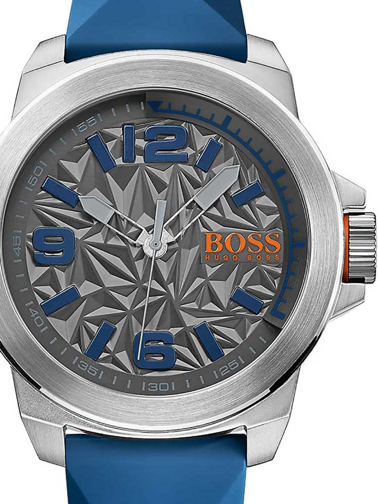 ceas barbatesc hugo boss orange 1513355 new york 50mm 3atm