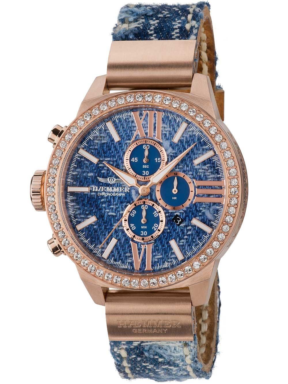 ceas de dama haemmer dsc-08 jeani cronograf 45mm 10atm