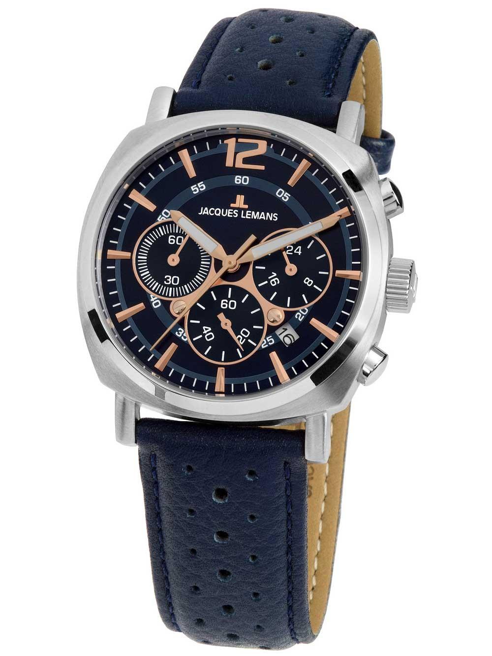 Ceas barbati Jacques Lemans 1-1931C Lugano Chronograph 40mm 10ATM