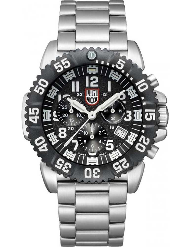 ceas barbatesc luminox a.3182 colormark chrono 3180 serie 44mm 200m