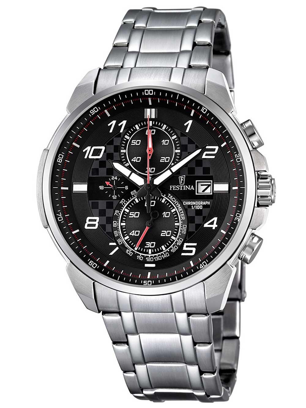 ceas barbatesc festina f6842/4 cronograf 44mm 10atm