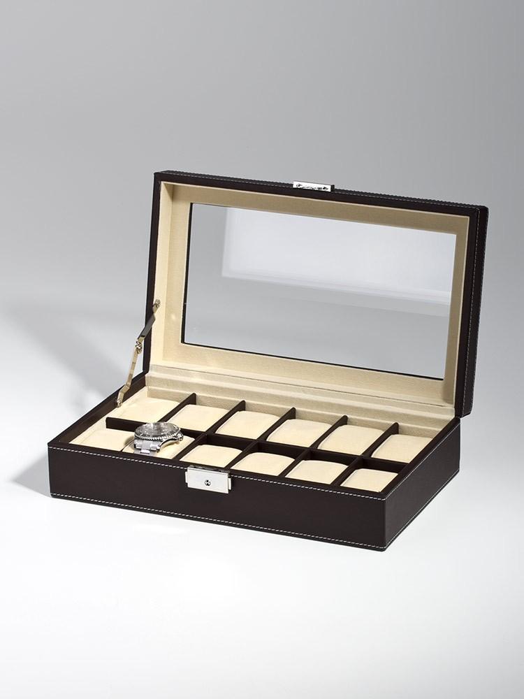 cutie ceasuri rothenschild rs-1098-12dbr 12 ceasuri