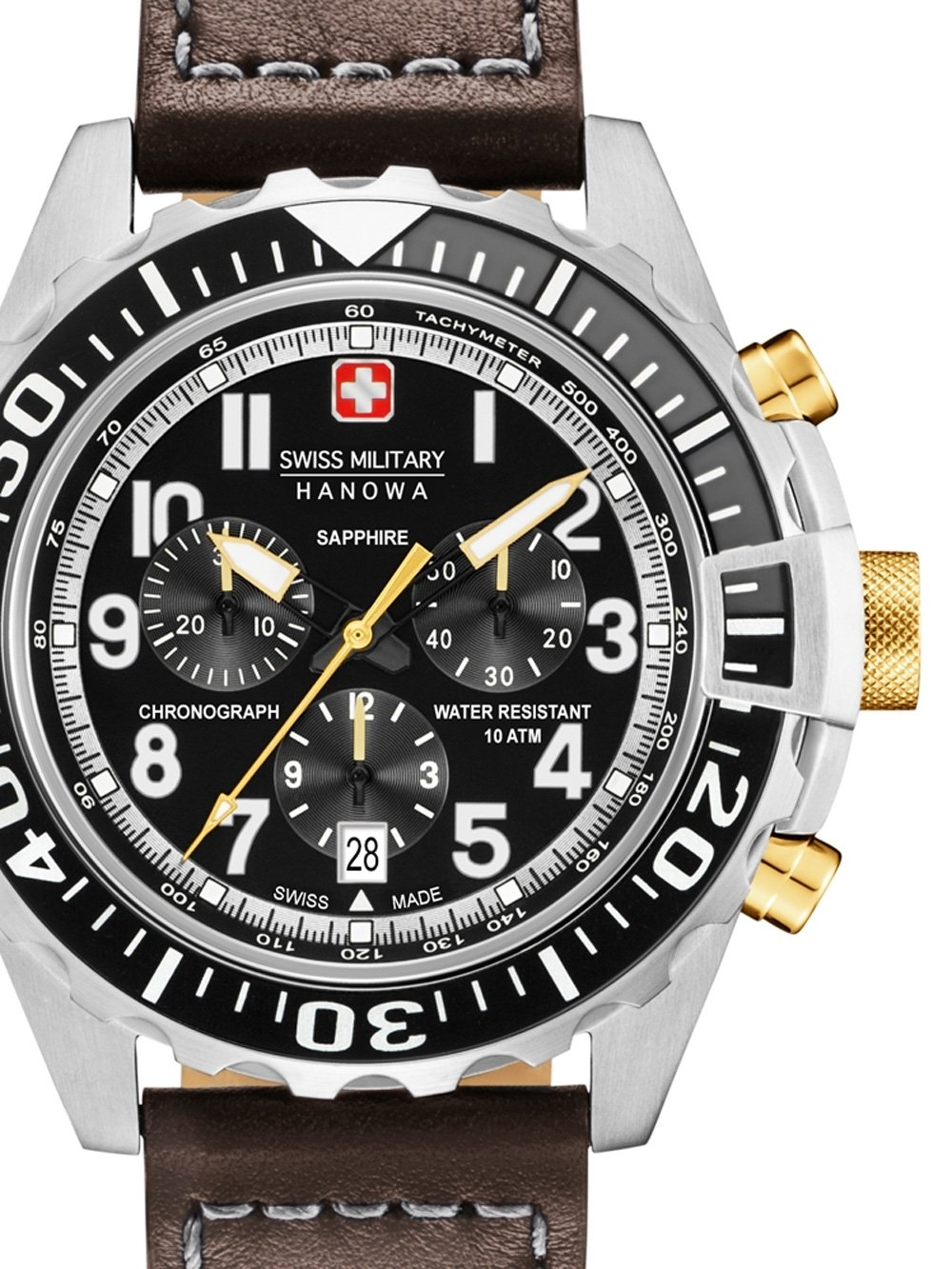 ceas barbatesc swiss military hanowa 06-4304.04.007.05 touchdown chrono 45mm 10atm