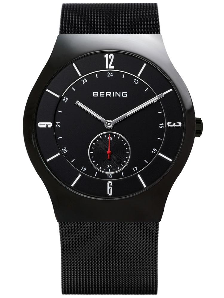 ceas barbatesc bering classic 11940-222 negru 40 mm