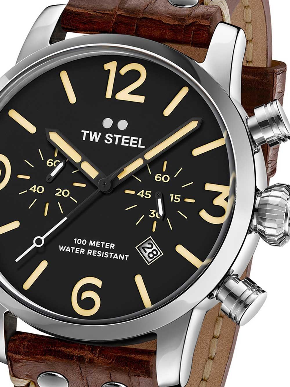 ceas barbatesc tw-steel ms4 maverick cronograf 48mm 10atm