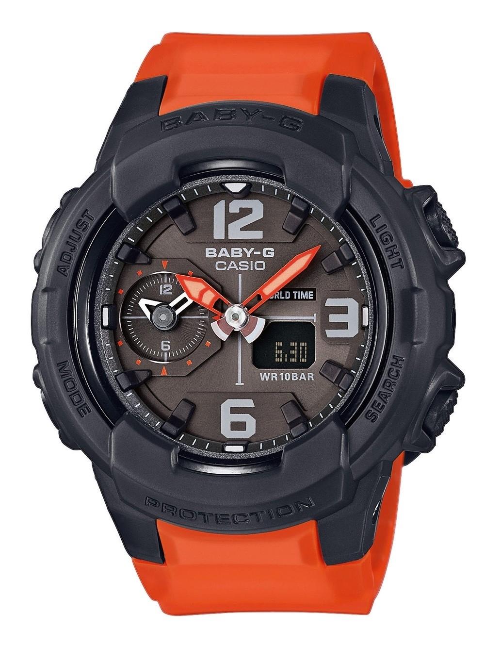 ceas de dama casio bga-230-4ber baby-g 42mm 20atm