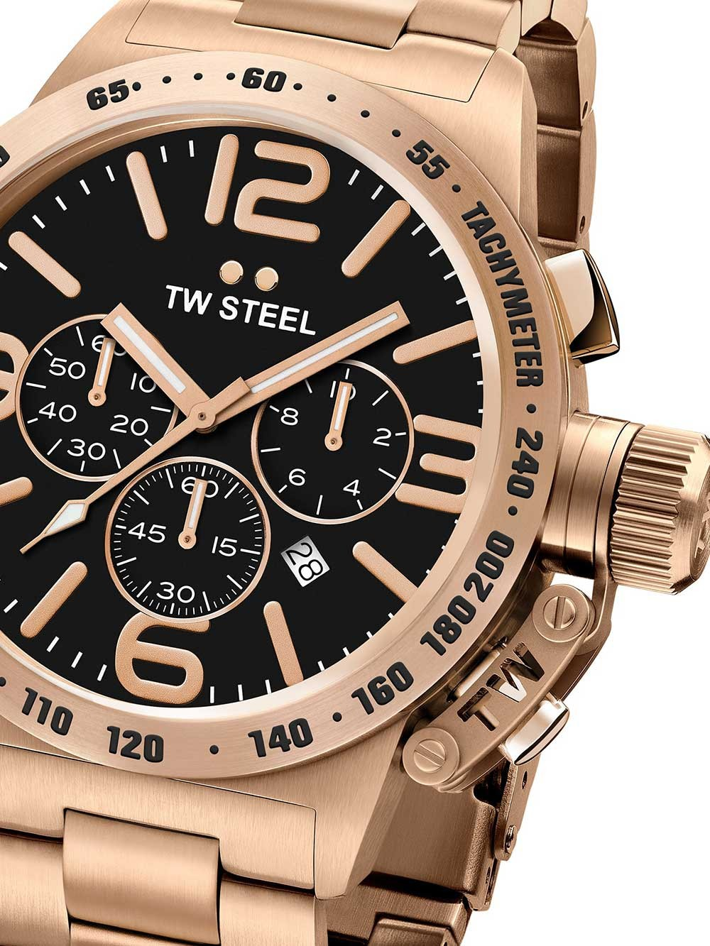 Ceas barbatesc TW-Steel CB174 Canteen Bracelet Cronograf 50mm 10ATM
