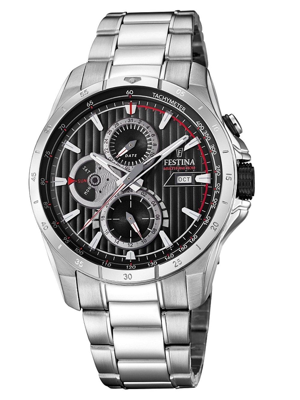 ceas barbatesc festina f16995/4 chrono 43mm 5atm