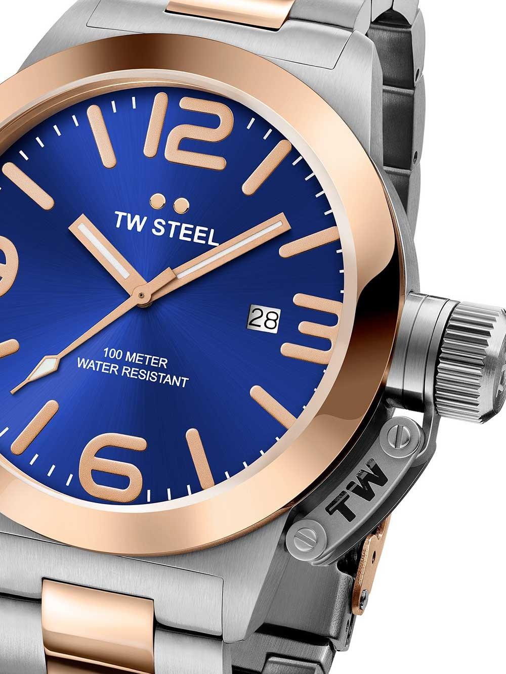 ceas barbatesc tw-steel cb141 canteen bracelet 45mm 10atm