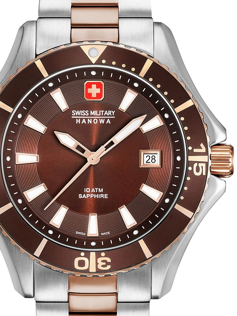 ceas barbatesc swiss military hanowa 06-5296.12.005 nautila 46mm 10atm