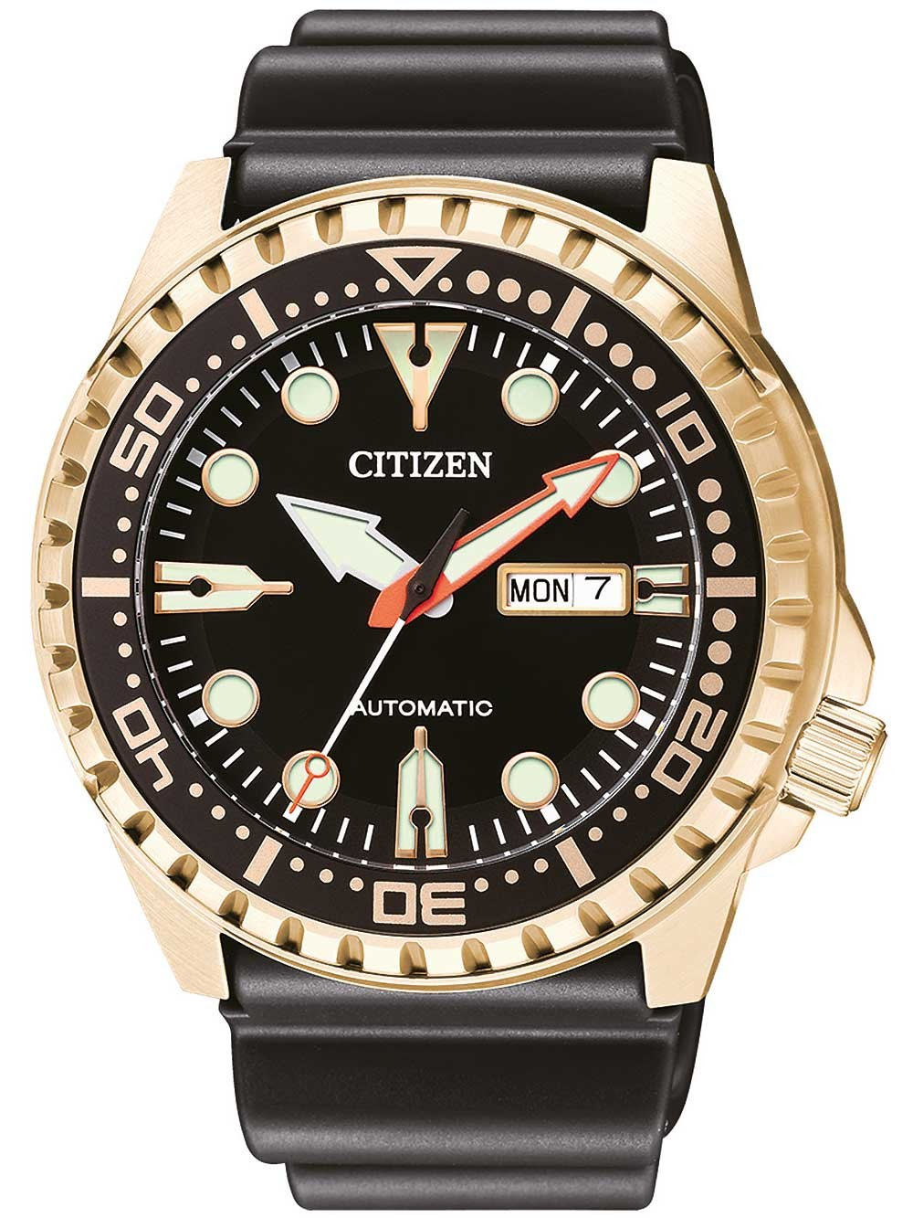 ceas barbatesc citizen nh8383-17ee day-date automatic 46mm 10atm