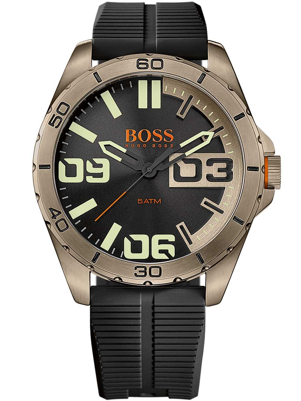 ceas barbatesc hugo boss orange 1513287 berlin 5atm 48mm