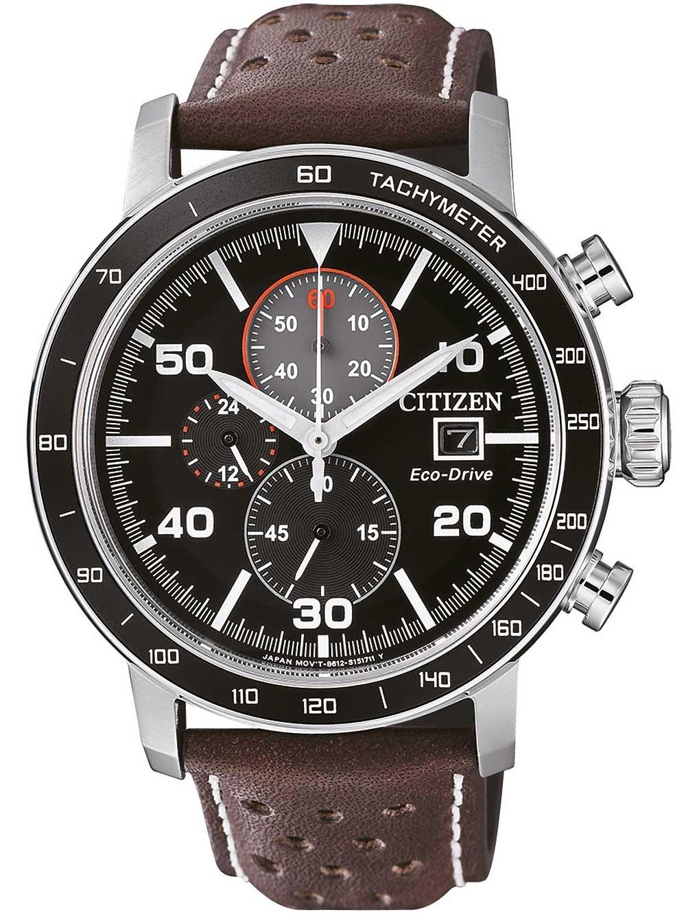 ceas barbatesc citizen ca0641-24e eco-drive chronograf 44mm 10atm