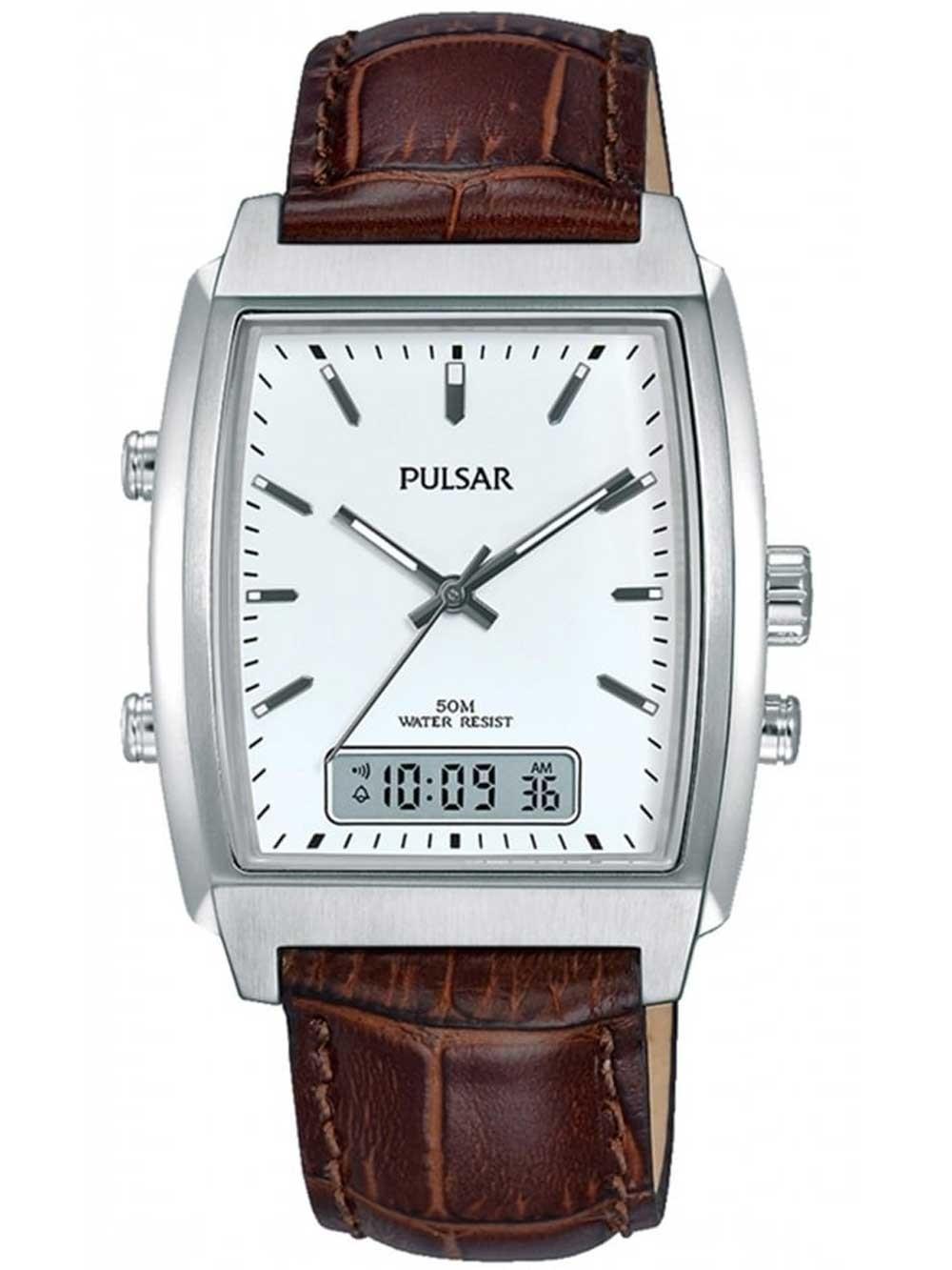 ceas barbati pulsar pbk033x1 pulsar anadigi 43mm 5atm