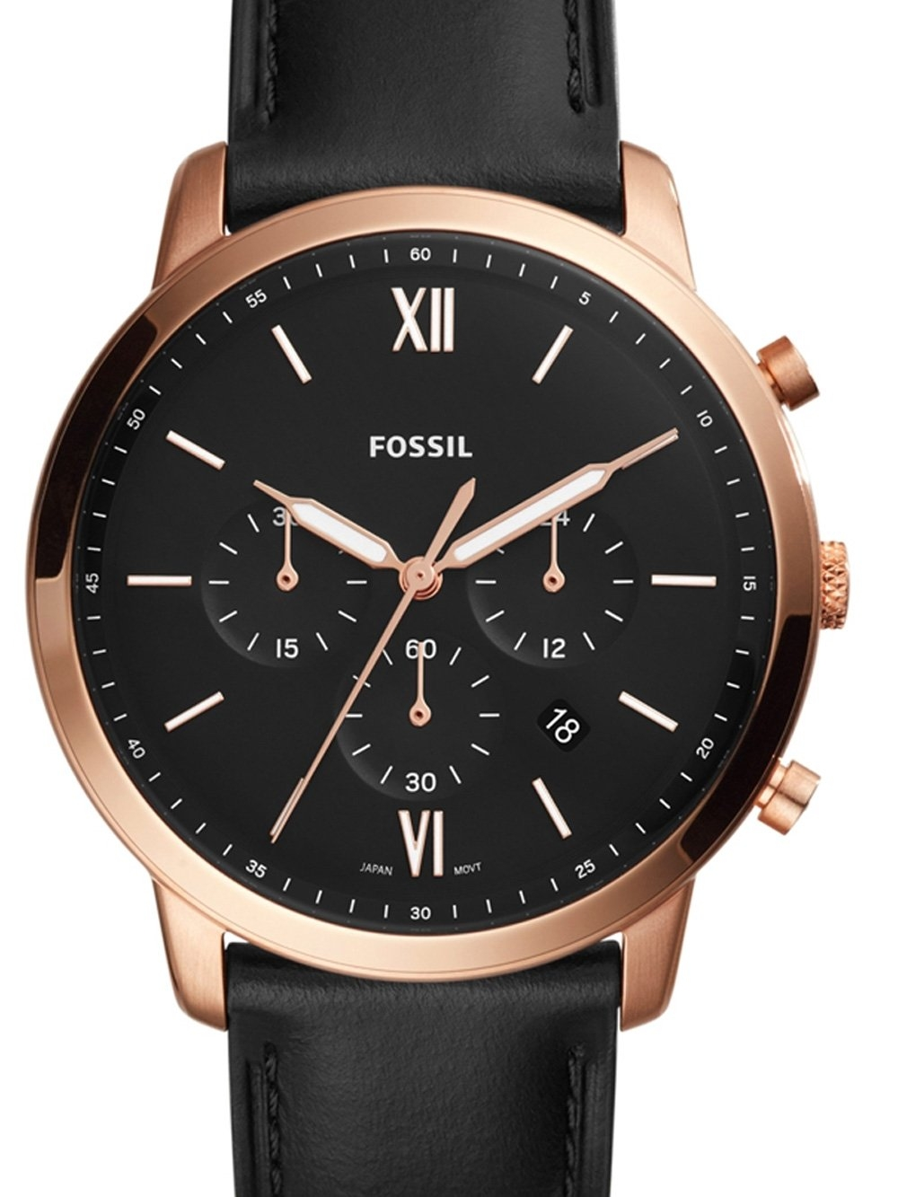 ceas barbatesc fossil fs5381 chrono 44mm 5atm