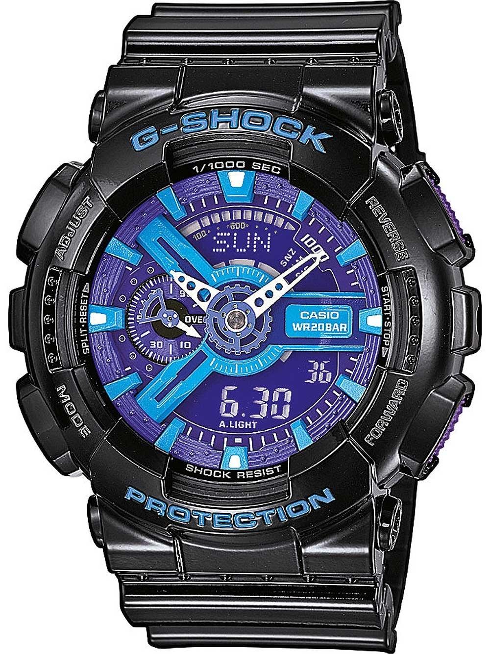 ceas barbatesc casio ga-110hc-1aer g-shock 55mm 20atm